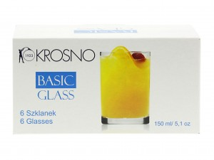 KROSNO BASIC GLASS LITERATKA 150 ML