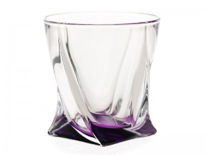 BOHEMIA QUADRO SZKLANKA DO WHISKY 340 ML VIOLET