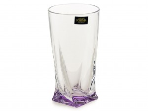 BOHEMIA QUADRO SZKLANKA WYSOKA 350 ML LIGHT VIOLET