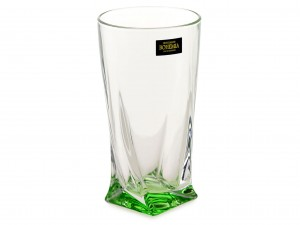 BOHEMIA QUADRO SZKLANKA WYSOKA 350 ML LIGHT GREEN