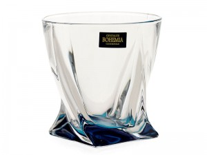 BOHEMIA QUADRO SZKLANKA DO WHISKY 340 ML OCEAN BLUE